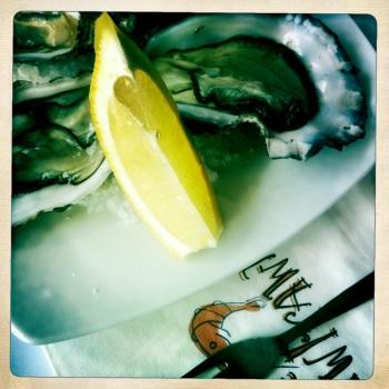 Raw Prawn oysters