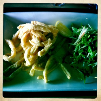 Calamari, Rocket and Apple Salad