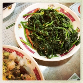Water Spinach with Garlic and Tofu