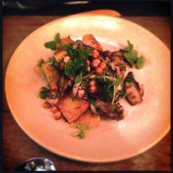 Mushrooms, Chickpeas, Rocket, Hummus, Sorrel for AU$17