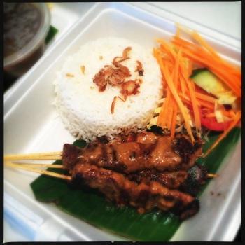 Takeaway Indonesian Satay (AU$13)