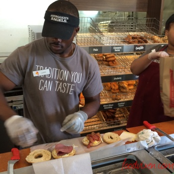 Bruegger's Bagel makers at work