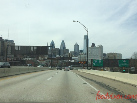 Driving into Philly!